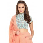 High Neck Top and Draped Dhoti Set