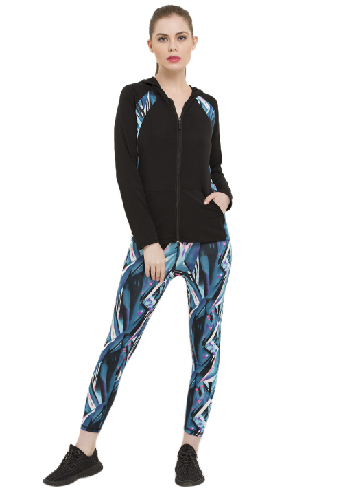 ACTIVE PRINTED  JACKET SET