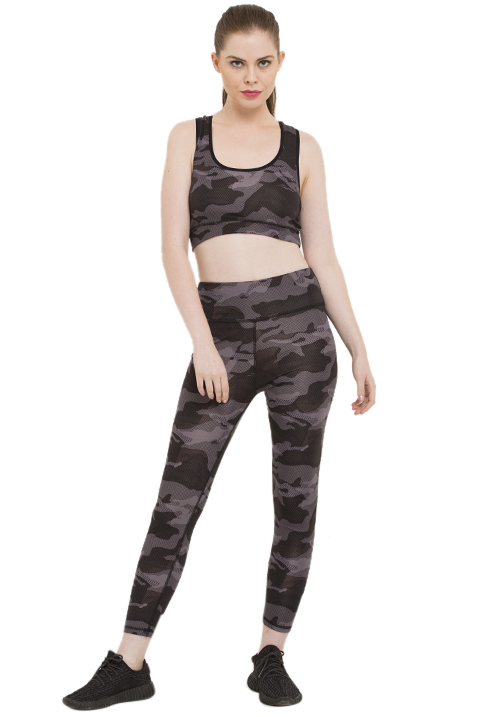 ACTIVE CAMO SPORTS-BRA SET
