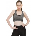 ACTIVE GREY/BLACK SPORTS-BRA SET