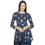 Hand Printed Peplum Tunic Set