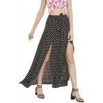 Polka Slit Skirt