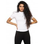 All White Puff Sleeves Tee!