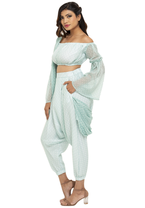 Draped Dhoti Set!