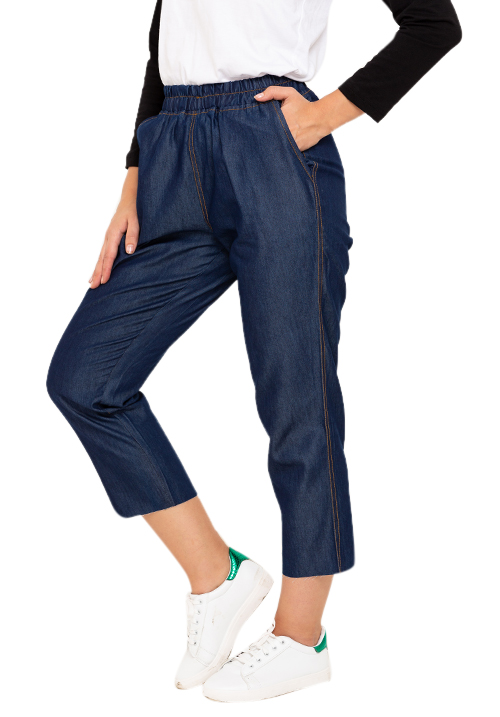Cropped Denim Joggers!
