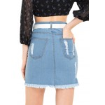 Slim Fit Ripped Skirt!