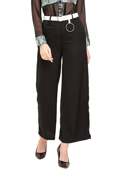 All Black Wide Leg Trousers!