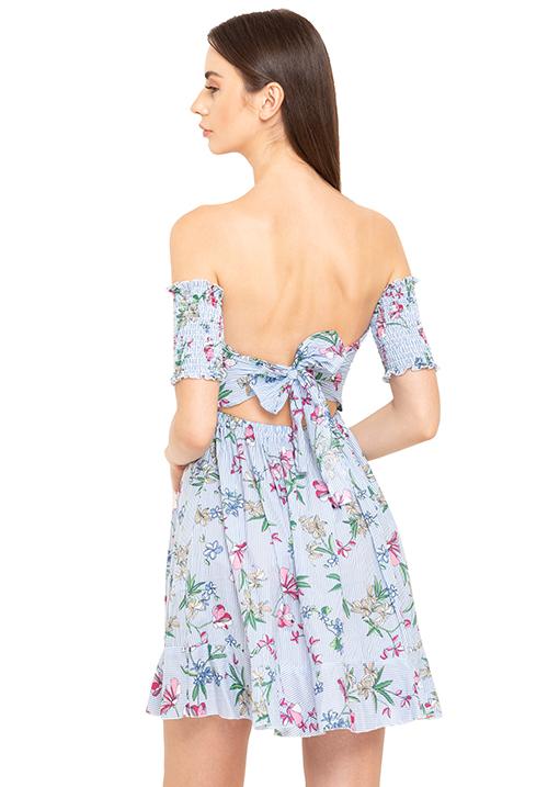Smocked Back Tie Up Dress!