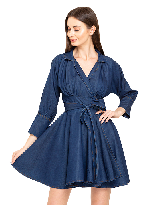Wrapped Denim Dress!