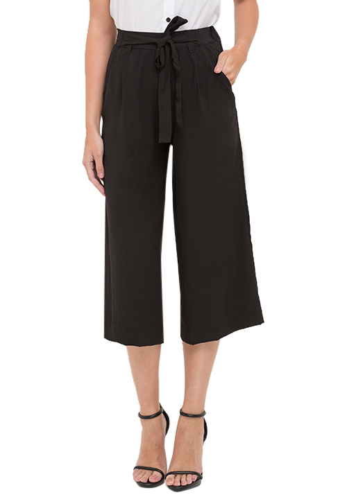 All Black Tie Up Culottes!