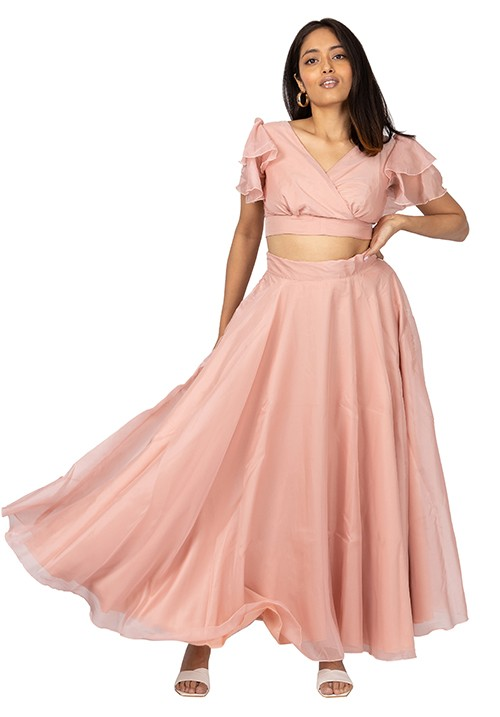 Organza Skirt Set