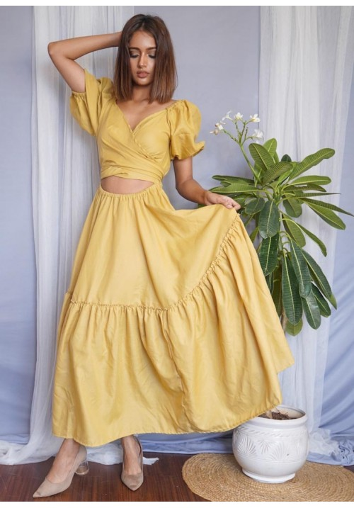 Wrapped and Flared Maxi Dress!
