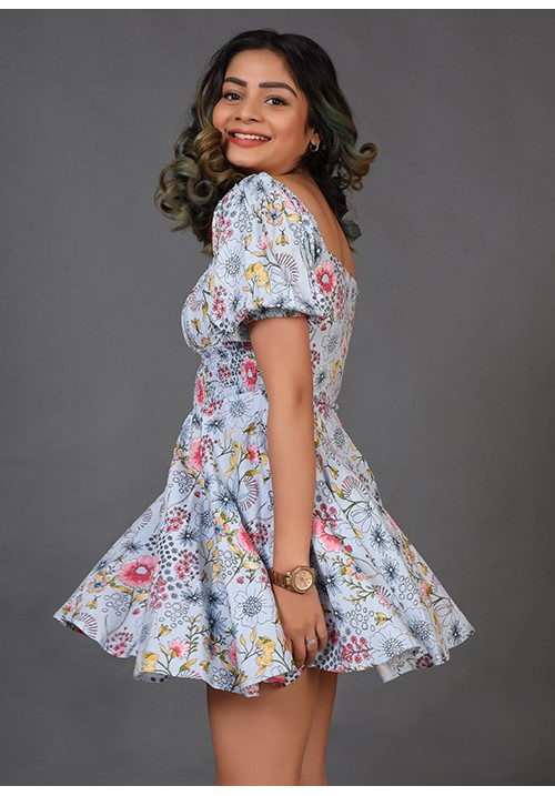 Smocked Fit and Flare Dress!