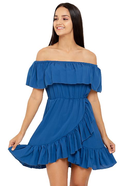 Overlapping Ruffle Dress!